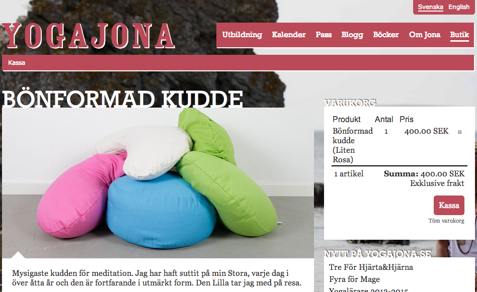 YogaJona i WP e-Commerce