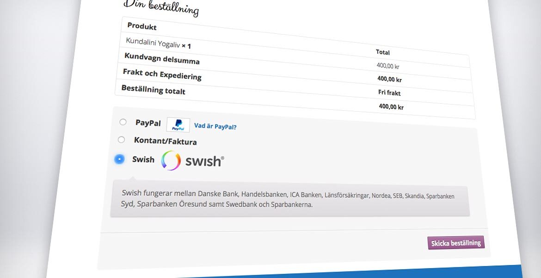 E-handel med Swish